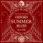 Inaugural Oxford Summer Blues Event Flyer
